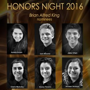 The 2016 Brian Alfred King Award