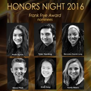 The 2016 Frank Frye Award Nominees