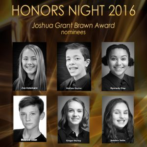 The 2016 Joshua Grant Brawn Award
