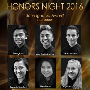 The 2016 John Ignacio Award